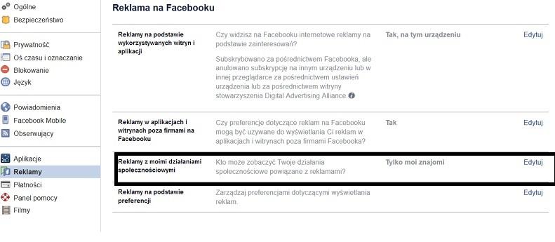 reklama na facebook zarzadzanie