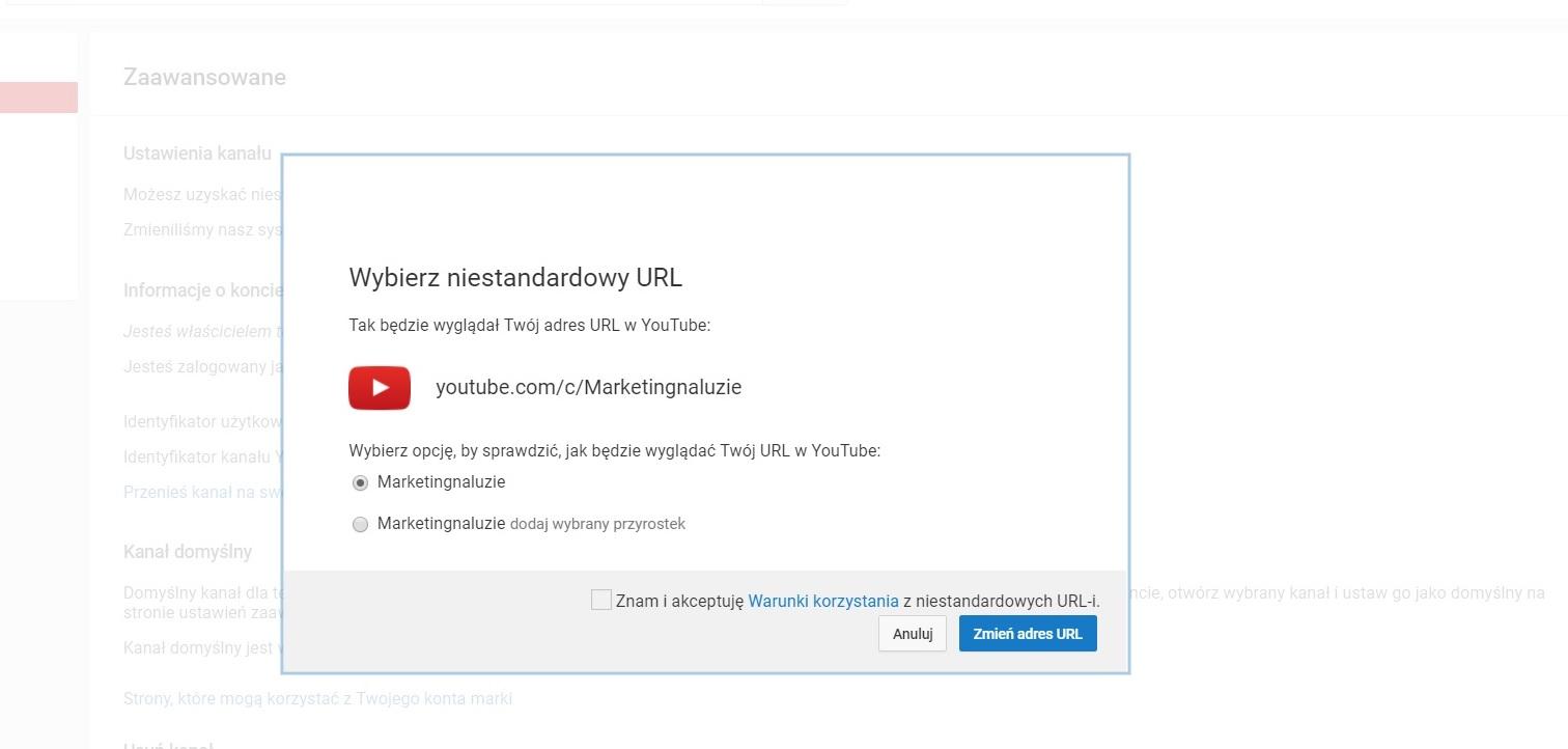 Przyjazny url kanału na Youtube – to proste i szybkie do wdrożenia, na co czekasz?