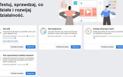 Zmiany i ułatwienia w testowaniu reklam na Facebooku